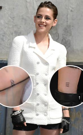 Kristen's tatoos debut in Paris.